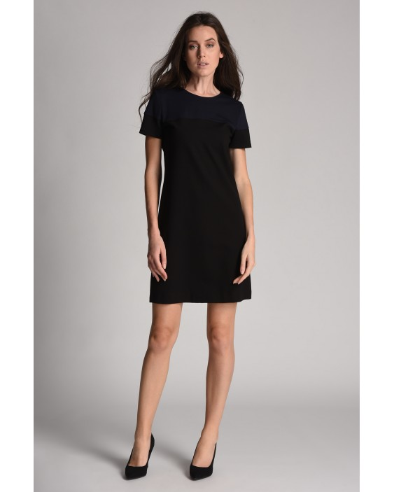 Two-toned flared Miami dress with short sleeves