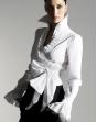 long-sleeved crossoverwhite Blouse