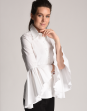 Long sleeved Plain white blouse Luna with frills