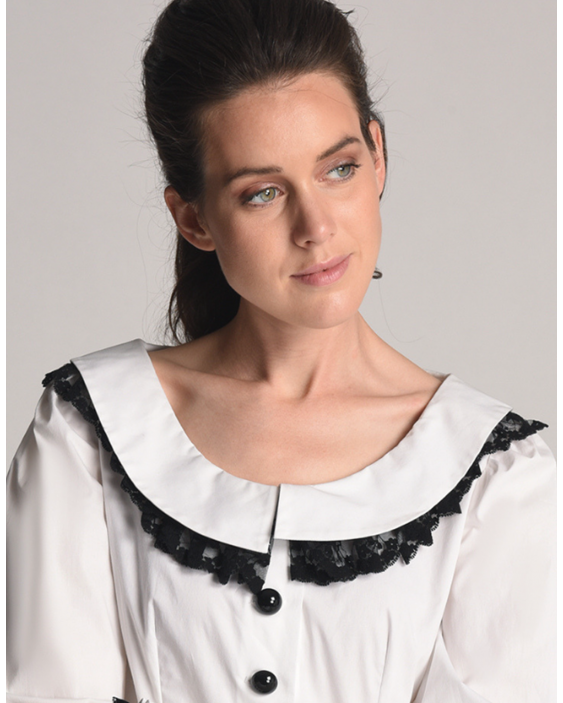 Blouse Prima with a Peter Pan collar