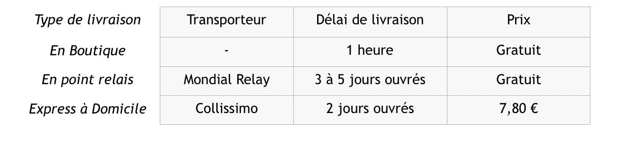 Livraison Missary France
